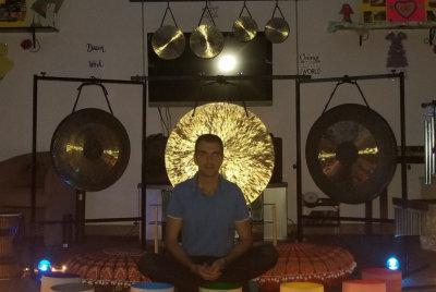 igor sitting and meditating
