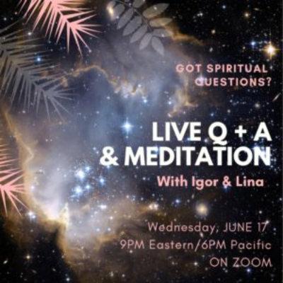 live q + a & motivation